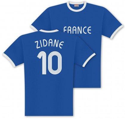 World of Football Player Shirt Zidane-Frankreich - M