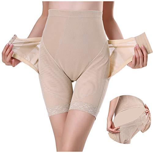 骨盤矯正 ガードル 産後 ケア 加圧 お腹引き締め 通気 トイレ便利 3段ホック 調節可能 (ベージュ, XXL)