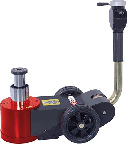 KS Tools 160.0739 Lufthydraulischer Wagenheber 30 t / 15 t, Rot/Schwarz