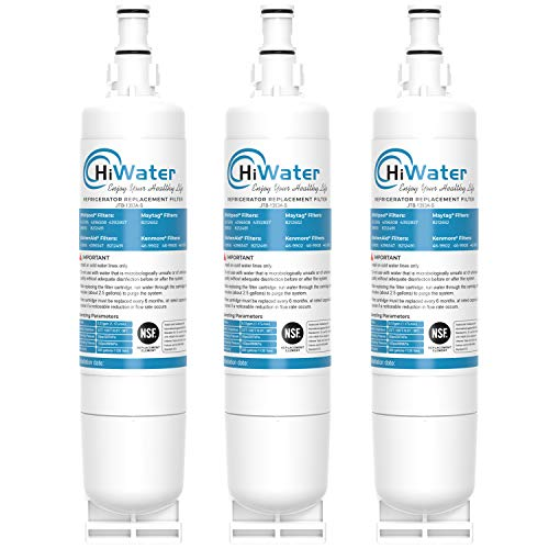 HiWater 4396508 Refrigerator Water Filter, NSF 53&42 Certified, Replacement for Whirlpool EDR5RXD1 Filter 5 PUR W10186668, 4396510, NLC240V, 4392857 46-9010 WF-4396508, 3PACK