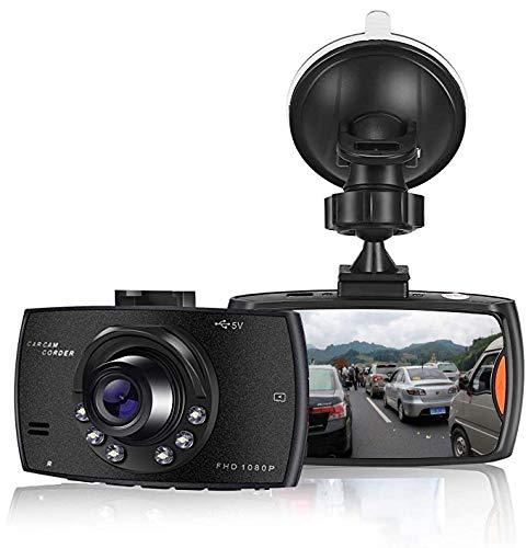 SOOTEWAY Cámara de Coche 1080P Full HD Dash CAM 2.4 Pulgada LCD Conducir Grabadora 170°Ángulo con WDR, G-Sensor, Detección de Movimiento, Grabación en Bucle, Monitor de Aparcamiento
