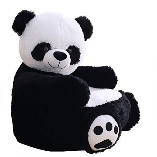 haohaiyo Kinder Plüsch Sofa Sitz,Kindersessel,Babysessel,Baby Stützsitz Lernen Sitzen Weichen Stuhl Kissen Sofa, Kindersofa(Panda)