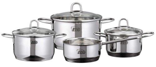 ELO 90165 - Batería de Cocina de Acero Inoxidable, 4 Piezas