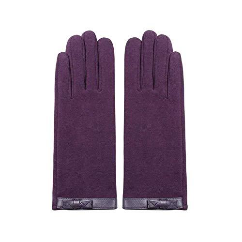 YDS Shop warme winterhandschoenen met touchscreen, voor vrouwen met dikke voering, outdoor-sport Eén maat Paars