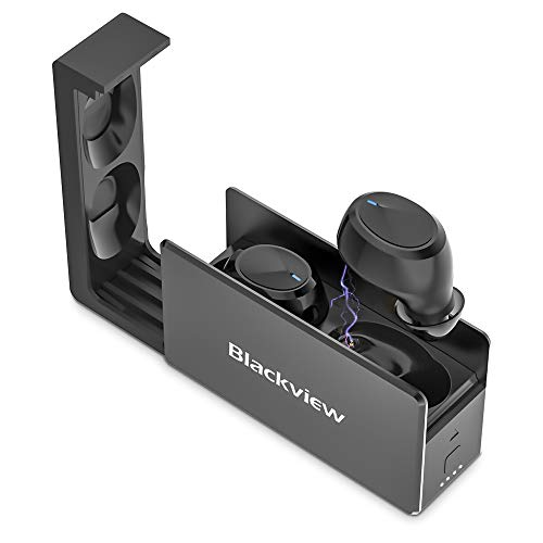 Blackview AirBuds 2 Auriculares Inalámbricos Bluetooth 5.0, Micrófono Incorporado, Control Táctil, Carga Rápida USB-C, Reproducci 25 Horas Bluetooth In-Ear Auriculares Wireless con Mic