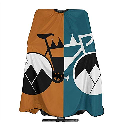 Kapsel Schort Sunset Berg Carriage Cartoon Fiets Kapsel Salon Cape Mannen Capes Wai Doek Unisex Haar Snijden Shampoo Styling Schort Vrouwen 140X168Cm