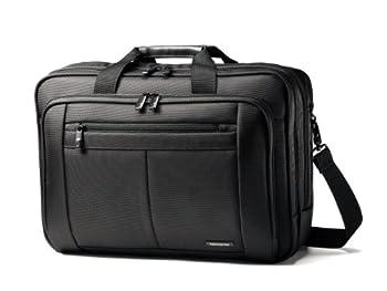 Samsonite Classic Multi Gusset Toploader Briefcase Black Triple 15.6-Inch
