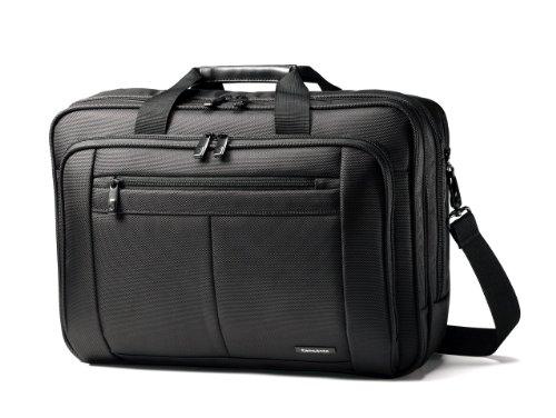 Samsonite Classic Multi Gusset Toploader Briefcase, Black, Triple 15.6-Inch