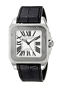 Cartier Midsize W20106X8 Santos 100 Automatic Leather Watch image