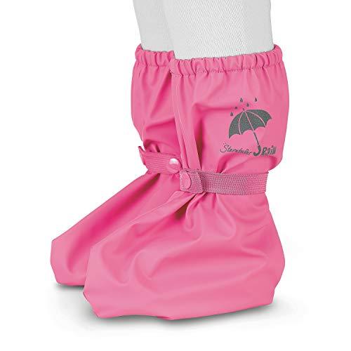 Sterntaler Baby Regen-Überschuh mit Druckknopf für Mädchen, Alter: 0-24 Monate, Größe: One Size, Farbe: Pink (Hortensie), Art.-Nr.: 5651690