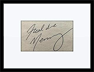 Rare Framed Freddie Mercury Queen Authentic Autograph with Certificate of Authenticity