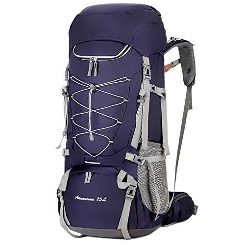 Zaino Pacchetto Confezione Zaino da Trekking Grande da 75L Outdoor Travel Alpinismo Arrampicata Camping Zaino per Uomo ZHAOYONGLI (Colore : Purple, Dimensioni : 75l)