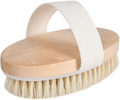URAQT Trockenbürste, Rückenbürste Massagebürste Körperbürste Body Dry Brush Bürsten mit natürliche Borsten für Peeling Massage Verbessern die Durchblutung Cellulite