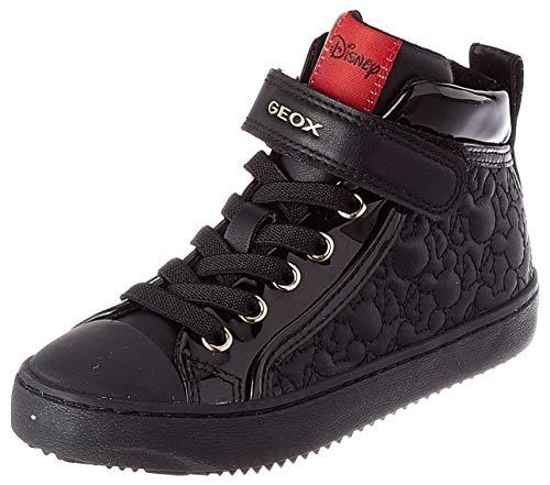 Geox J Kalispera Girl G Sneaker, (Black), 34 EU