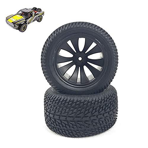 BABYCOW Neumático RC, Neumáticos Carreras con Control Remoto 1:12, Neumáticos Goma Doble propósito Caminos Camiones, Todoterreno, adecuados Accesorios neumáticos Modelos Alta Velocidad, 2 Piezas