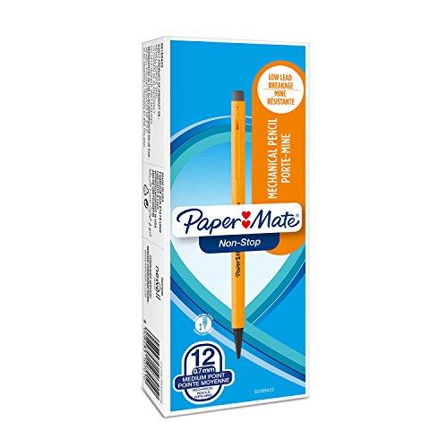 Paper Mate Non-Stop matita portamine, 0,7mm, HB n. 2, colori fluo assortiti, confezione da 12