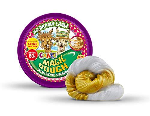 CRAZE Magic Dough Lama Intelligent Children's Clay 80 g Caramelo Blanco Bicolor Cambio de Color 15544