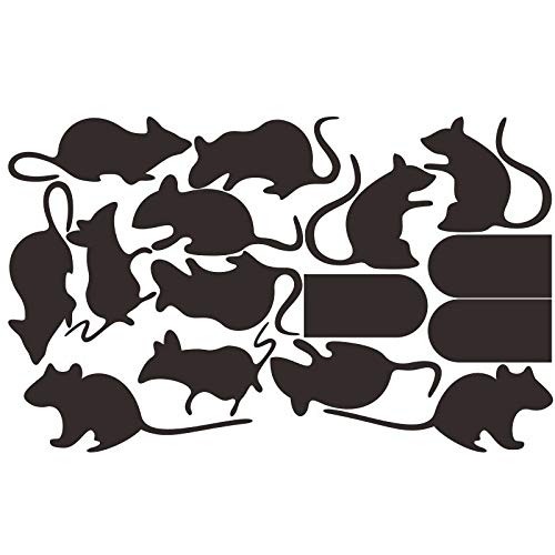 BooDecal DIY Rats Mice Doors Sets of 15 Vinyl Lettering Decal Home Decor Wall Murals Decals Stickers for Halloween