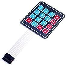 Electronic component Quickbuying 10pcs 4x4 Matrix 16 Key Membrane Switch Keypad Keyboard for Arduino/AVR/PIC/ARM