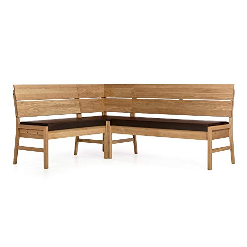 Amazon Marke -Alkove - Hayes - Moderne Eckbank mit gepolsterter Sitzfläche, Wildeiche