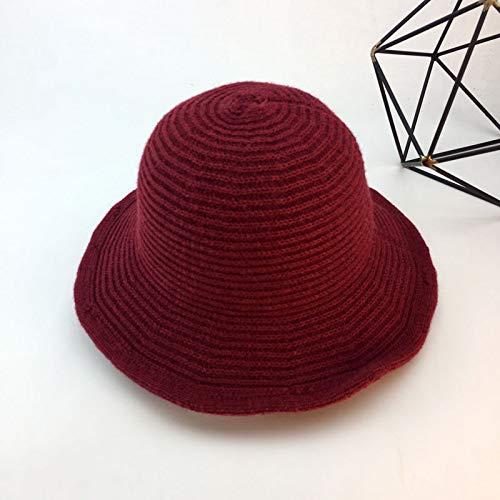 Xme Damen Winter Wolle Fischer Hut, Outdoor warme Becken Hut, modische Wollmütze