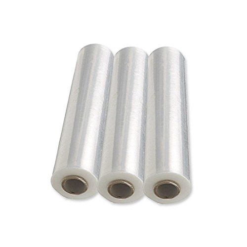 Lot de 3 rouleaux de film étirable pour palette - transparent 490 mm x 250 m. 23 microns