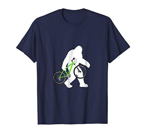 Bigfoot Carrying Mountain Bike Shirt Funny Cyclist Tee