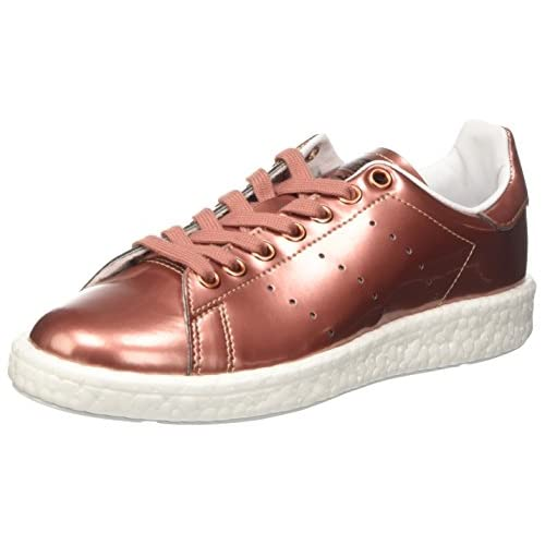 Adidas Stan Smith Boost, Sneaker a Collo Basso Donna, Rame (Copper Metallic/Footwear White), 40 EU