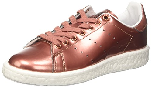 Adidas Damen Stan Smith Boost Sneaker Dekollete, Braun (Copper Met./Copper Met./Ftwr White), 38 2/3 EU