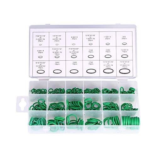 Beduan AC376M 270pcs Compressor O Rings Kit 18 Sizes Car Air Conditioning O-Ring Assortment Set (Green)