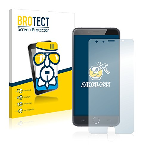 BROTECT Panzerglas Schutzfolie kompatibel mit Ulefone Be Touch 3 - AirGlass, 9H Festigkeit, Anti-Fingerprint, HD-Clear