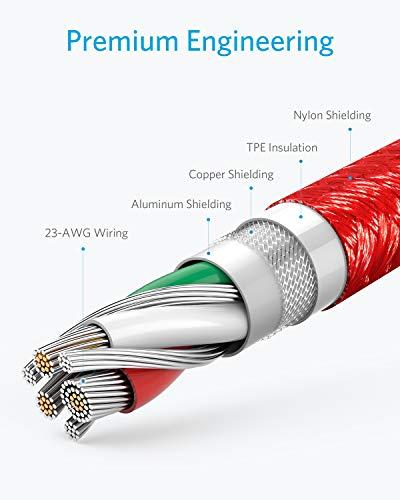 Anker Powerline+ USB-C auf USB-A Kabel, 3m lang, für Galaxy S8, S8+, S9, S10, MacBook, XZ, LG V20 G5 G6, Xiaomi 5 und viele mehr (Rot)