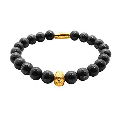 Klitzingjewels Bracciale in Argento Gorilla con Diamanti da Donna/Uomo – Esclusive Perle