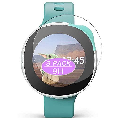 VacFun 3 Piezas Vidrio Templado Protector de Pantalla, compatible con Vodafone Neo Smartwatch Smart Watch, 9H Cristal Screen Protector Protectora Reloj Inteligente