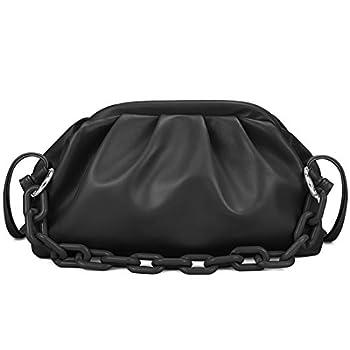 VOLGANIK ROCK Cloud Crossbody Bags for Women Chain Clutch Purse and Handbag with Dumpling Shape
