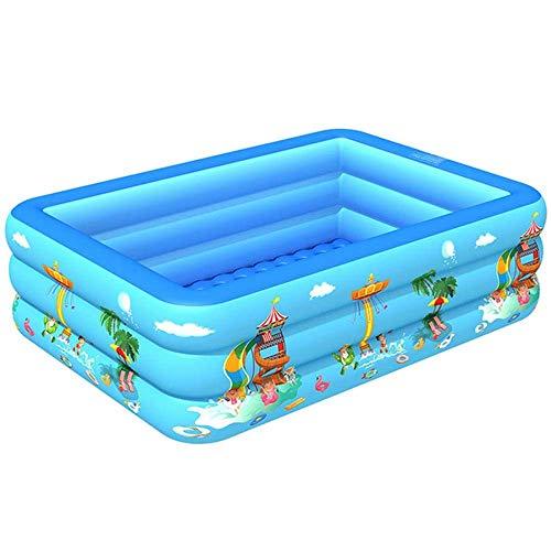 YUNZUN Piscina Hinchable Familiar Swim Center, Piscina Rectangular para niños, Piscina Infantil para niños Ocean Life, Piscina para niños pequeños 83 x 54 x 22 Pulgadas