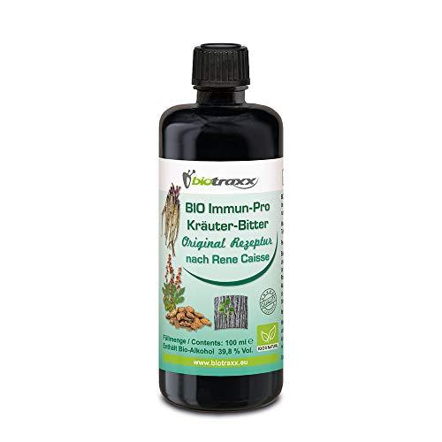 Biotraxx ESSIAC BIO Immun Pro Kräuterbitter Immunsystem Stärken Original Rezeptur nach Rene Caisse | 100 ml | Hergestellt in Deutschland