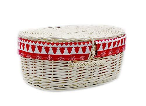 MyBer Rieten mand picknickmand koffer wilgenkoffer Box Weide K12-629-W-SWR