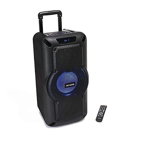 Aiwa Exos-X8 Karaoke Lautsprecher, Tragbare Party Speaker mit 12 Stunden Batterielaufzeit