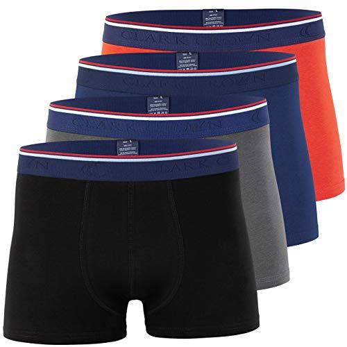 CC Clark Crown Herren Modal Boxershorts (4er Pack), Retroshorts in weicher Modal Cotton Qualität in Grösse M, Mix