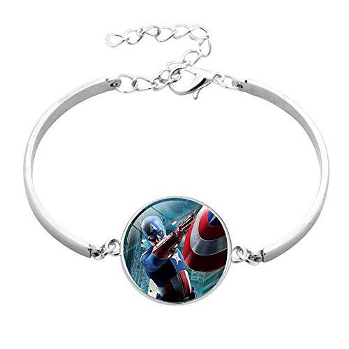 Bosi General Merchandise Los Vengadores, Iron Man, Pulseras de Gemas del Tiempo, Accesorios de joyería, coleccionables