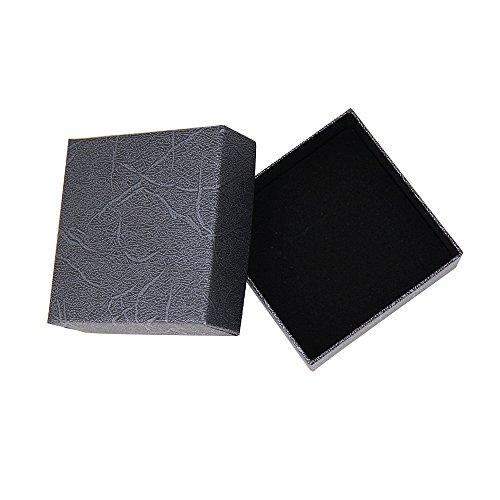 Caja de presentación de joyas con almohadilla para pendientes, anillos, pulseras, colgantes o collares, color negro