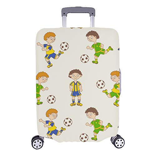 Best Luggage Cover Football Outdoor Sport Supply Durable Washable Protecor Cover Fits 28.5 X 20.5 Inch Hard Cover Baggage Suitcase Cover Protector Suitcase Luggage Protector
