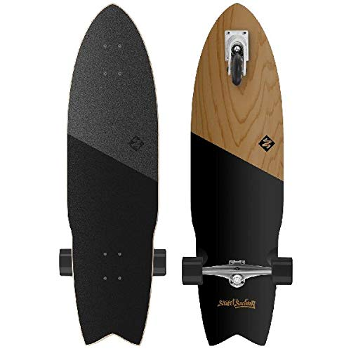 Street Surfing SHARK ATTACK Longboard Casterboard Surf Carving Cruiser 9.6 x 36'