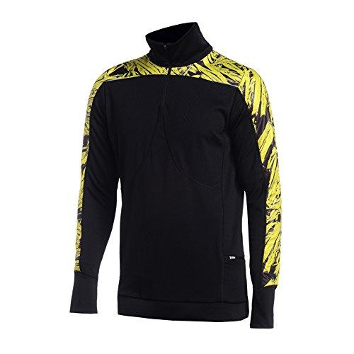 Nessi Sweat-Shirt obom Fitness Respirant Course T-Shirt à Manches Longues L 32 Yellow Cristals Pro