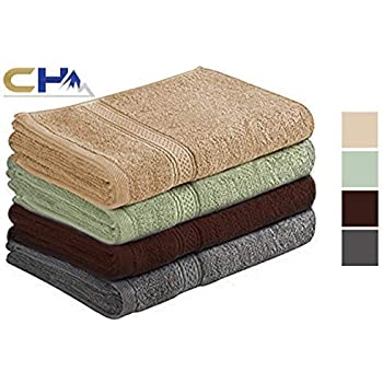 100/% Cotton Luxurious Daily Use Towels for Bathroom and Kitchen Soft Extra Large Hand Towels 16x28 Inches Multicolor. Pack of 6