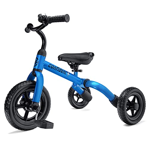 XIAPIA 3 en 1 Triciclo Bebé para Niños de 2-4 Años hasta 25KG, Correpasillos de Equilibrio Infántil Plegable, Juguete Niños y Regalos Originales Bebes de 18-48 Meses para Cumpleaños Navidad (Azul)