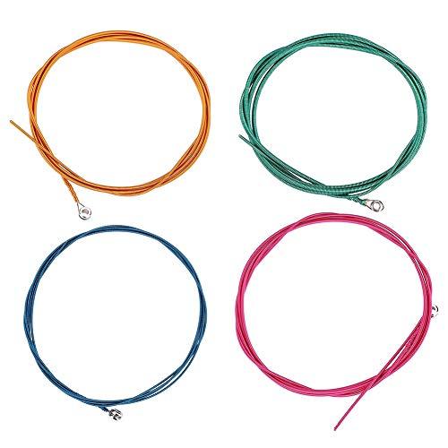 Focket - Cuerdas para bajo eléctrico de aleación de níquel resistente, cuerdas para bajo antióxido 4, alisador para instrumento para bajo eléctrico