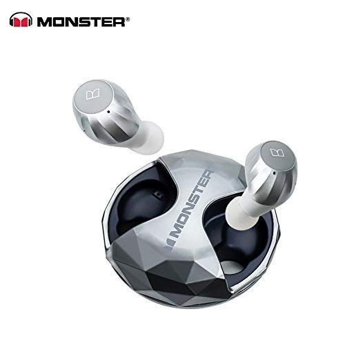 Monster Neue Clarity HD-Luftverbindungen High Definition True Wireless Earbuds Silver