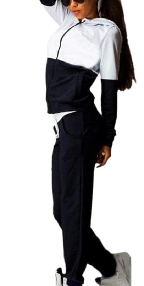 引っ張る面積噂女性2ピースロングスリーブTシャツとロングパンツセットスウェットシャツ